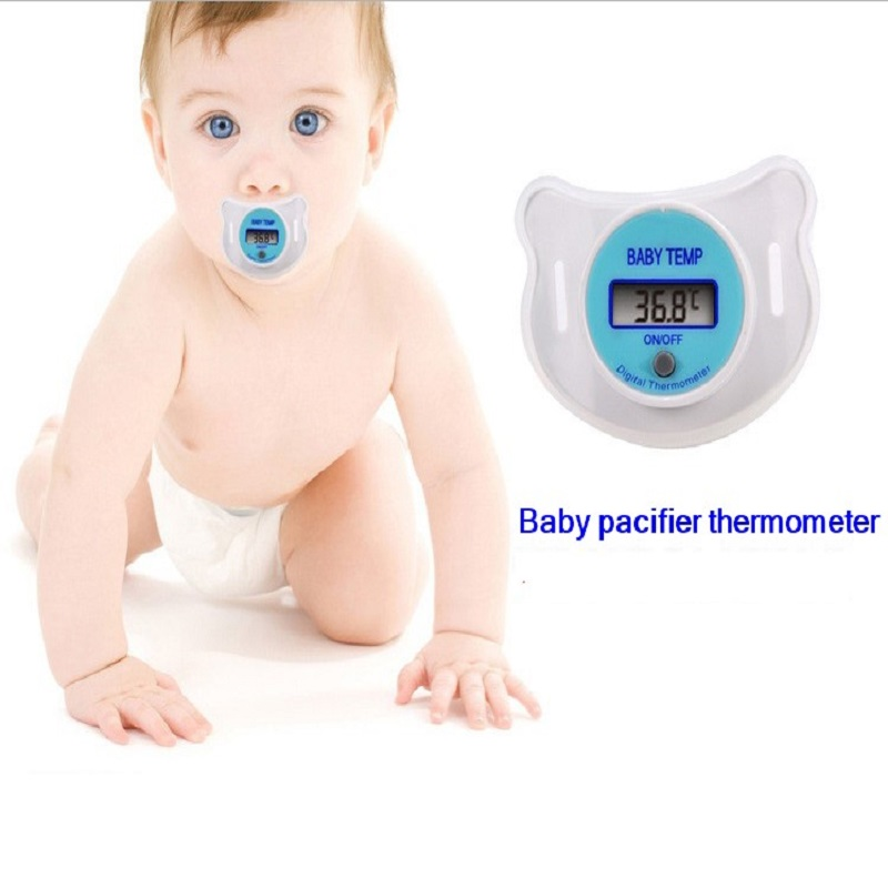 1pcs Great Portable Mouth Nipple digital Thermometer LCD Infant Baby Pacifier Temperature diagnostic-tool soft safe wholesale(China (Mainland))