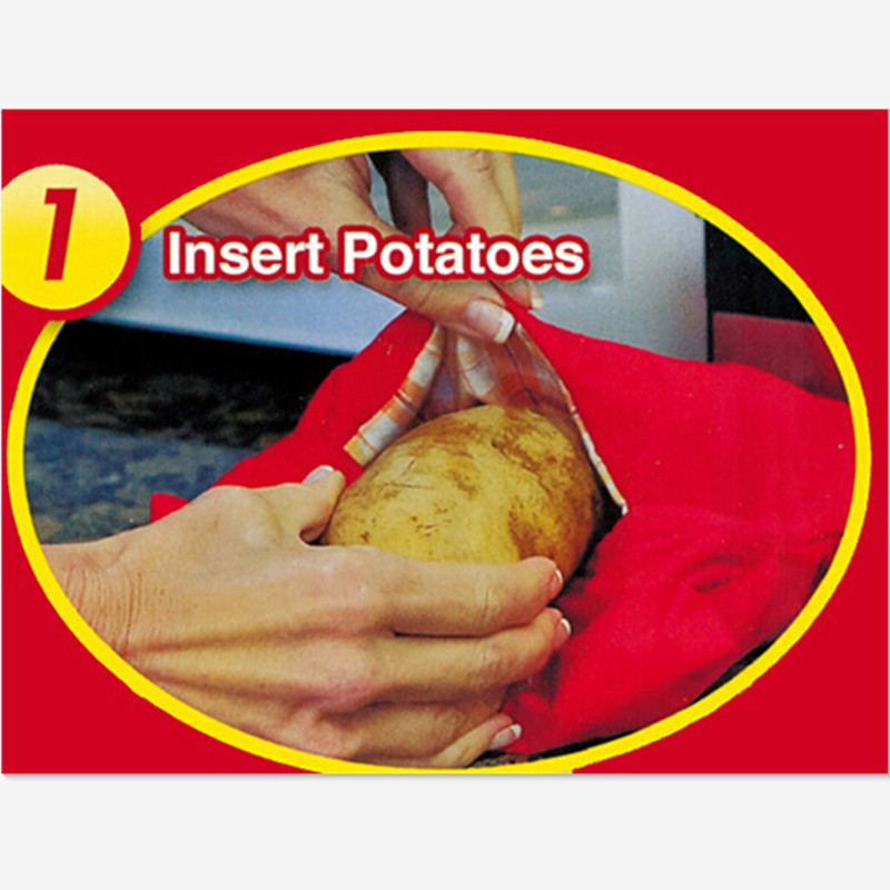 Baked Potato Cooker Microwave Bag For Cooking Potatos Quickly And Easily