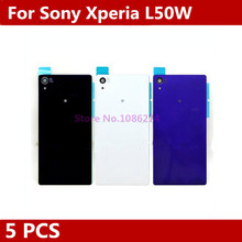 Buy 5PCS/LOT Original New Black/white/Purple Sony Xperia Z2 L50W D6502 D6503 D6543 Battery Back Housing Glass Cover Battery Door for $9.00 in AliExpress store