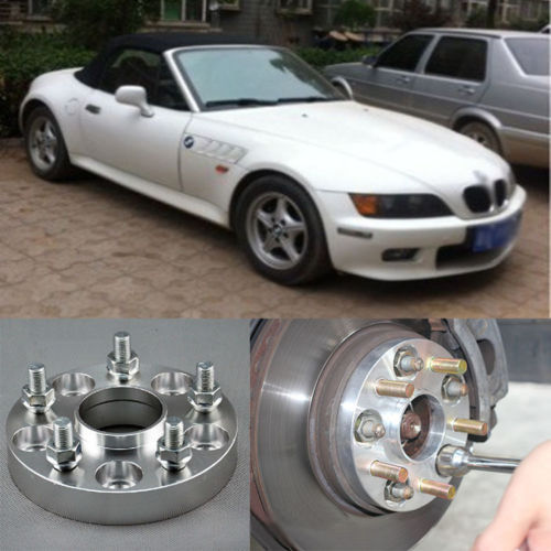 4pcs New Billet 5 Lug 14*1.5 Studs Wheel Spacers Adapters For BMW Z3 E36 1996-2002<br><br>Aliexpress