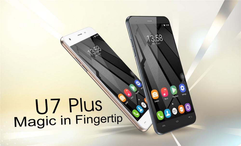 OUKITEL U7 Plus 5.5 inch Android 6.0 MTK6737 Quad Core Cell Phone 2GB RAM 16GB ROM Smartphone 4G Mobile Phone Fingerprint