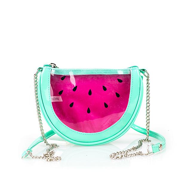 Women kids transparent messenger bags PVC Watermelon Cute fruits crossbody bag Summer beach chain bag bolsa pequena(China (Mainland))