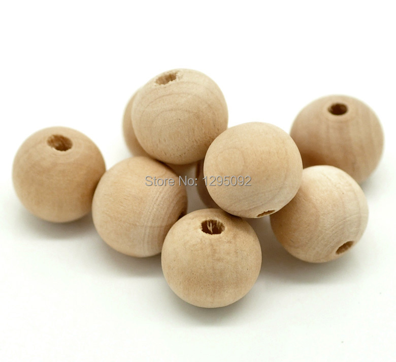 2500Pcs Wholesale Natural Wood Spacer Beads DIY Charms Wooden Round 14x13mm(1/2x1/2)<br><br>Aliexpress