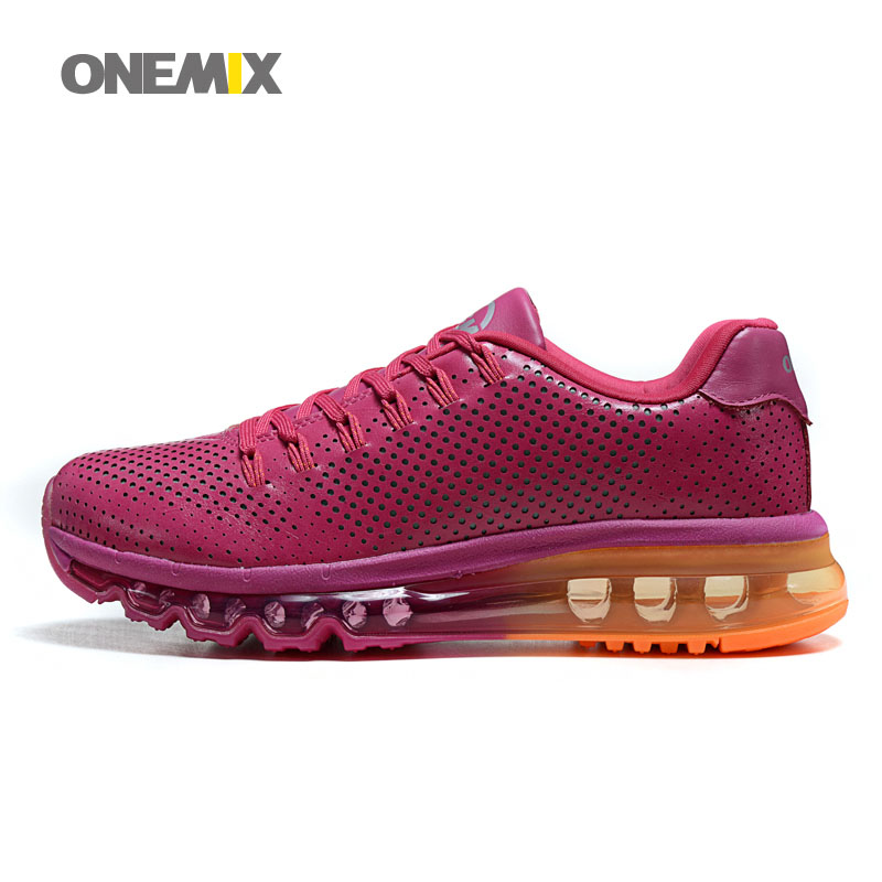 ONEMIX Women Running Shoes Microfiber+PV Upper Comfortable Athletic Outdoor Walking Shoes for Women EUR Size 36-40 1004(China (Mainland))