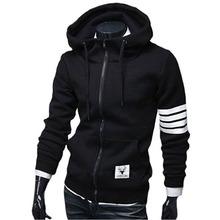 2016 Fashion Leisure Spring Autumn Korean Men Oblique Zipper Hoodie Coat  Sweatshirts Slim Men's Sportswear Hot Sale Hoodies(China (Mainland))
