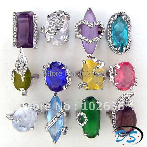 Wholesale lots Mixed charming cz & Rhinestone wedding rings jewelry ring,fashion rings,rings jewellery,rings