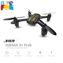 RC Mini Drone Hubsan H107P 2.4GHz 4CH 6-Axis Gyro Helicopter RC Quadrocopter with LED RTF Black Model