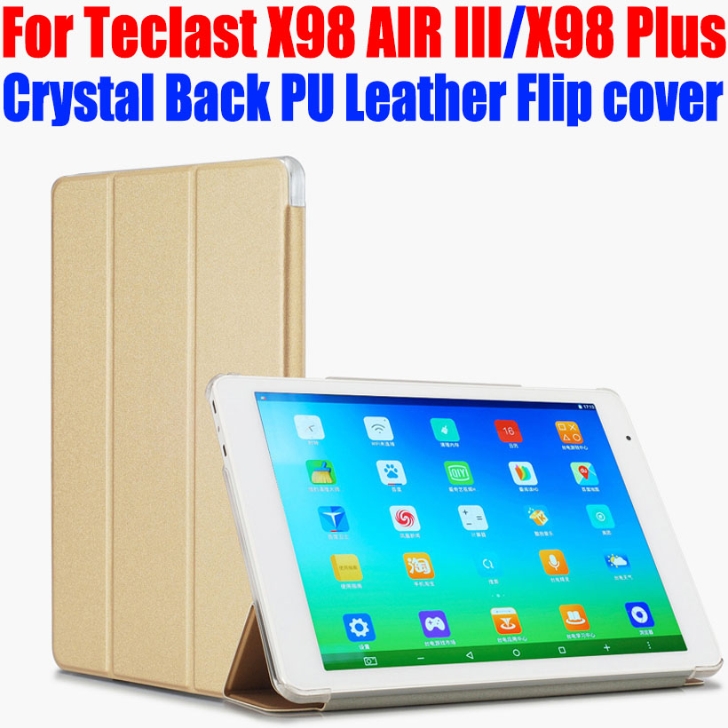 Original Case For Teclast X98 AIR III 3 X98 Plus Crystal Back PU Leather Case Flip cover for X98 Plus/X98 Air III tablet pc TL02(China (Mainland))