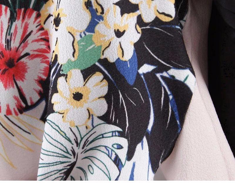 Старинные Цветок Цветочный Узор Контрастного Цвета С Длинным Рукавом Slim Тонкой Куртки Бейсбола Пилоты Бомбардировщиков ZA Стильный Верхняя Одежда Женщин Топы