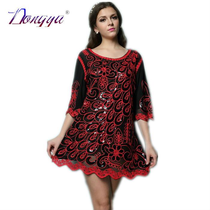 Simple Ted Baker Mahima Sequin Floral Full Skirt Dress In Red  Lyst