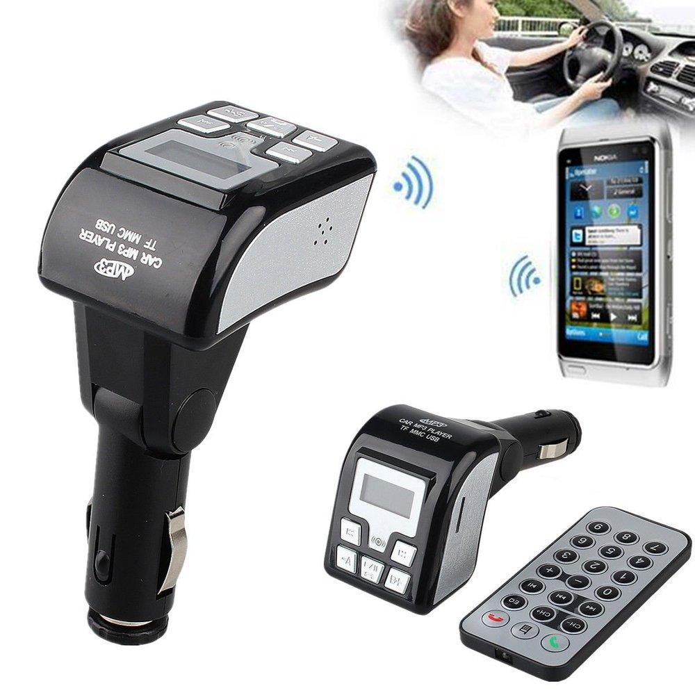 Wireless Bluetooth Car Audio Kit Hands-free Car kit MP3 Player wireless FM Transmitter Stereo FM Modulator Radio USB SD Remote(China (Mainland))