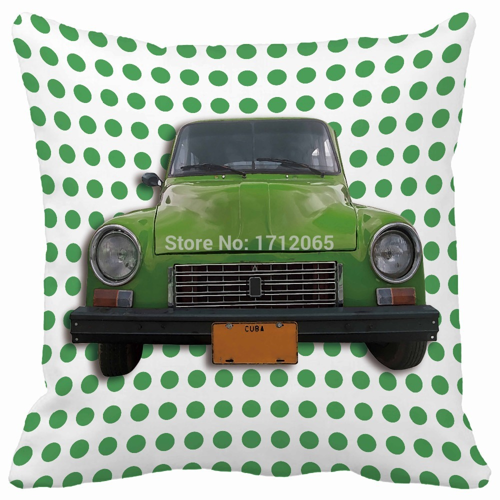 green dot old car vintage styling print pillows cushions home decor pillows decorate luxury decorative cushions custom(China (Mainland))