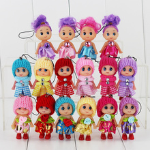 10pcs 8cm multiple Styles Mini Ddgir Kid Toy Interactive Baby Doll Toy Little Baby Mini Doll For Girl Randomly Free Shipping(China (Mainland))