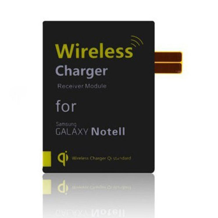 New Arrival Black QI Wireless Mobile Charging Platform Portable Reciever For Samsung Note2 Free Shipping()
