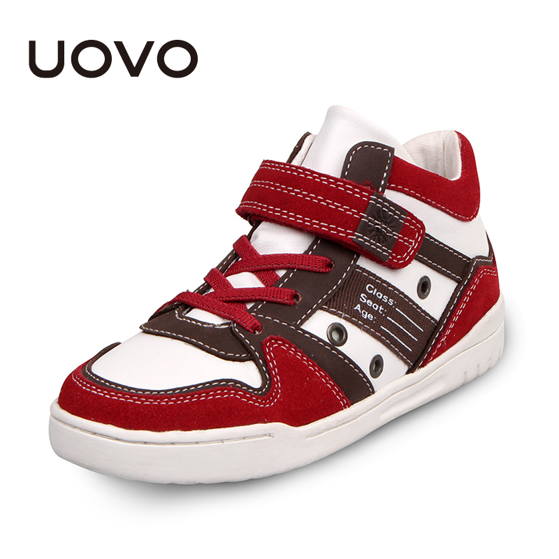 Boys Student Shoes Uovo Brand Classical Kids Fashion Sneakers Spring Autumn Children Casual Sport Shoes Leather Soft Zapatillas