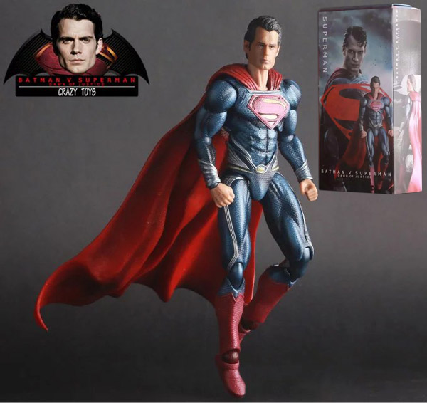 27CM Crazy Toys DC Superhero Batman v Superman Dawn of Justice Superman Clark Kent PVC Action Figure Collectible Model Toy(China (Mainland))