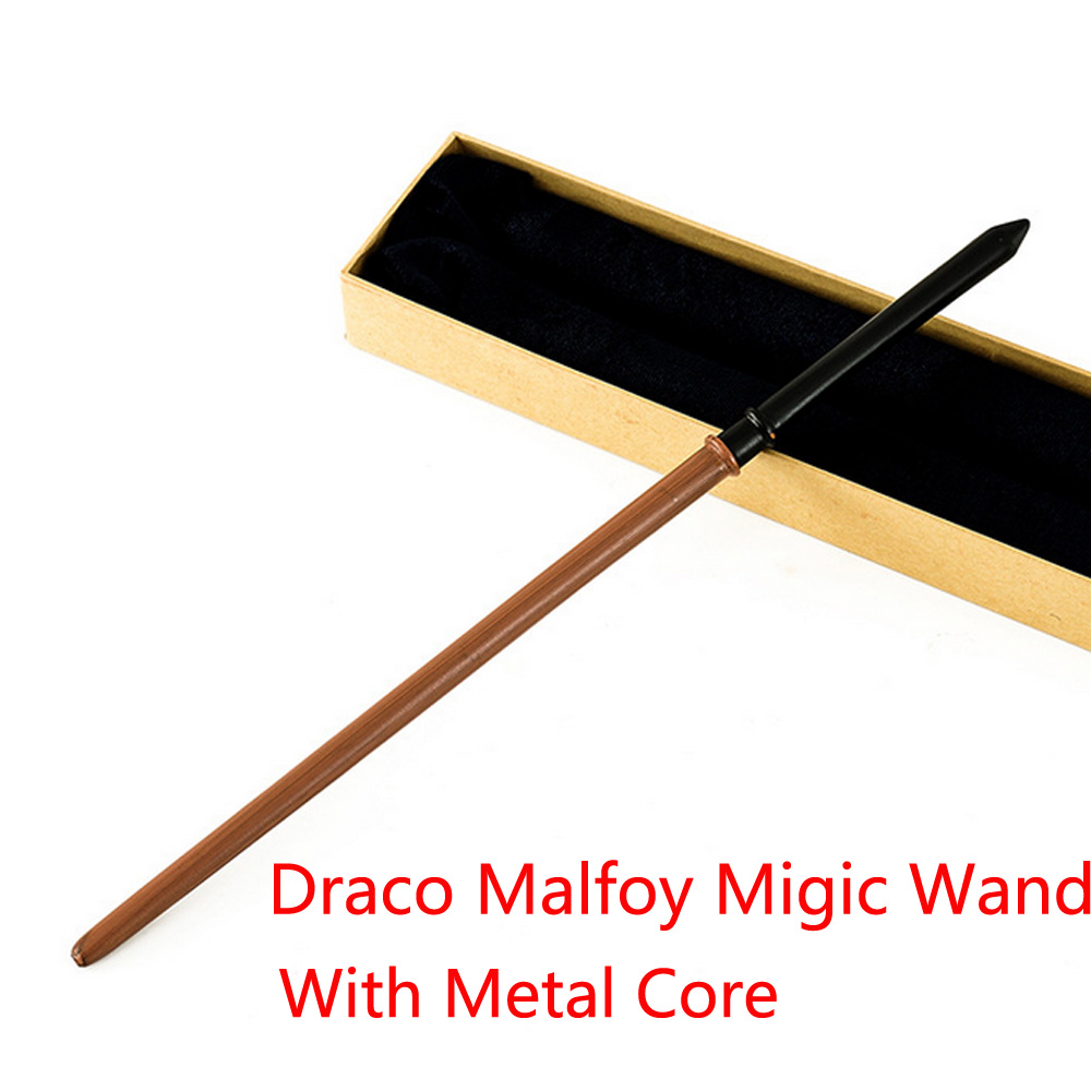 New Metal Core Draco Malfoy Migic Wand/ Magical Wand/ High Quality Gift Box Packing without LED light(China (Mainland))