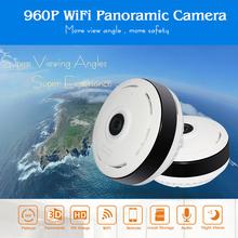 Buy HD FishEye IP camera 960P 360 degree Full View Mini CCTV Camera 1.3MP Network Home Security WiFi Camera Panoramic IR Hiseeu for $27.93 in AliExpress store