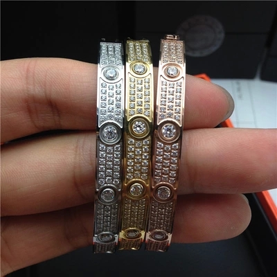 Love carter bracelet Stainless steel fashion carter jewelry with crystal for women men bracelet & bangles with screwdriver
