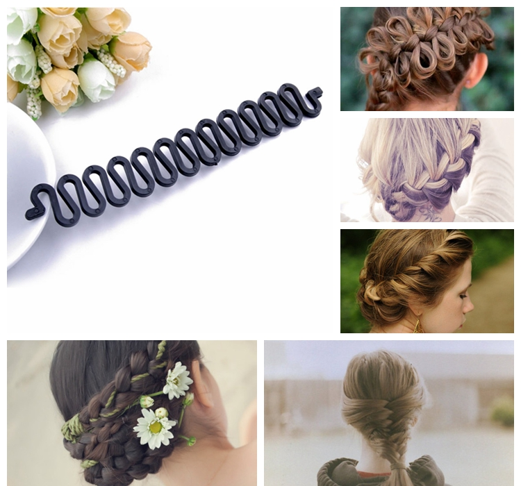 Fashion Hair Braiding Tool Roller With Magic Hair Band Styling Bun Maker Hair Style Maker Clip Twist(China (Mainland))