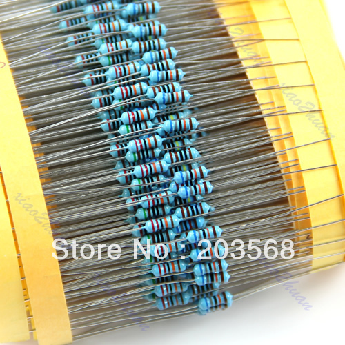 1/4W 30 Kind Metal Film Resistors Assorted kit 1% Each 20 Total 600pcs/pack+Free Shipping
