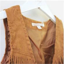 2015 Summer waistcoat for Kids casual vest girls black brown One Piece Clothes Sleeveless Tassel Vest
