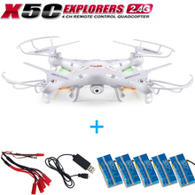 Outdoor aerial-photo Syma X5C Explorers 2.4G 4CH 6-Axis Gyro RC Quadcopter Helicopter With 2M Camera RTF with 5pcs battery kits(China (Mainland))