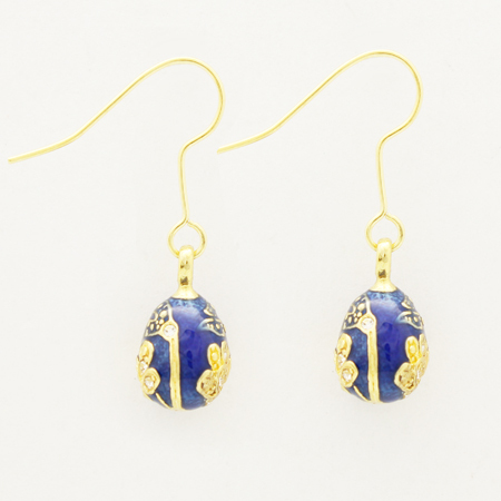 Tremella hook + gilded blue vintage drop earrings more attractive fashion jewelry is the best Valentine's Day Christmas(China (Mainland))