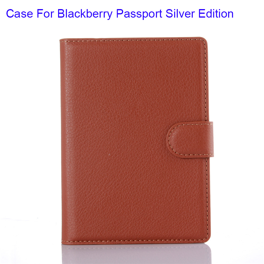 Cover Case For Blackberry Passport Silver Edition PU Leather Litchi Skin Surface Horizontal Stand Wallet Function New(China (Mainland))