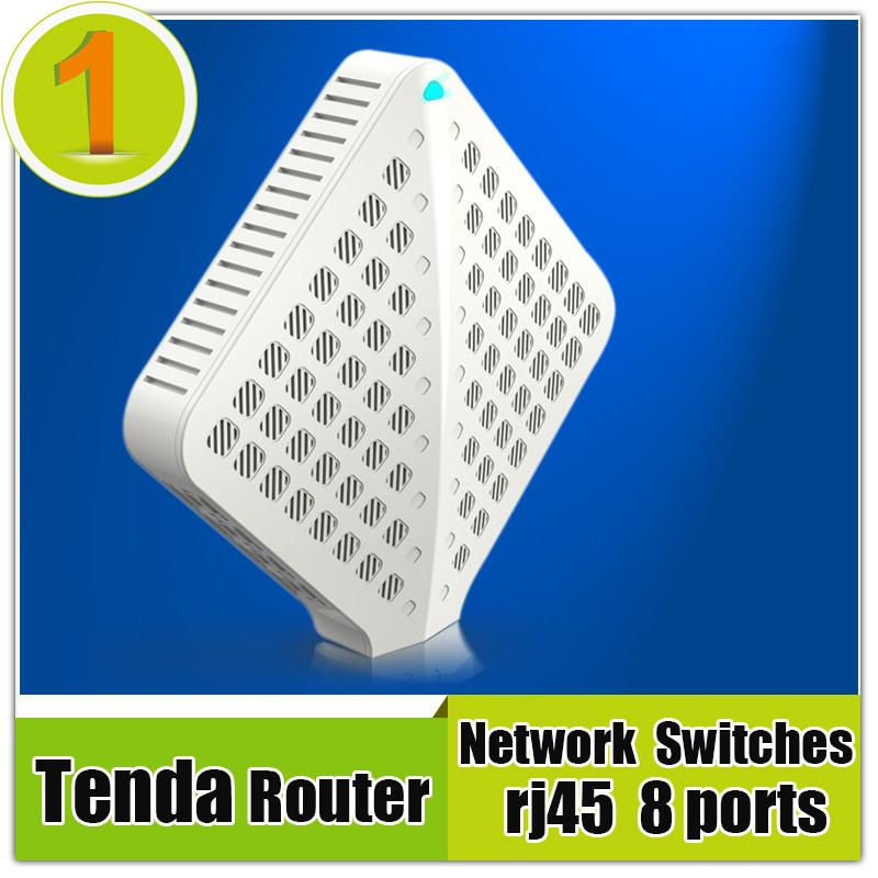2015 Tenda Fast Ethernet 8 Ports RJ45 Smart Switcher Gigabit Network Switch 10/100/1000M + 12V DC Power Adapter EU/US Router(China (Mainland))