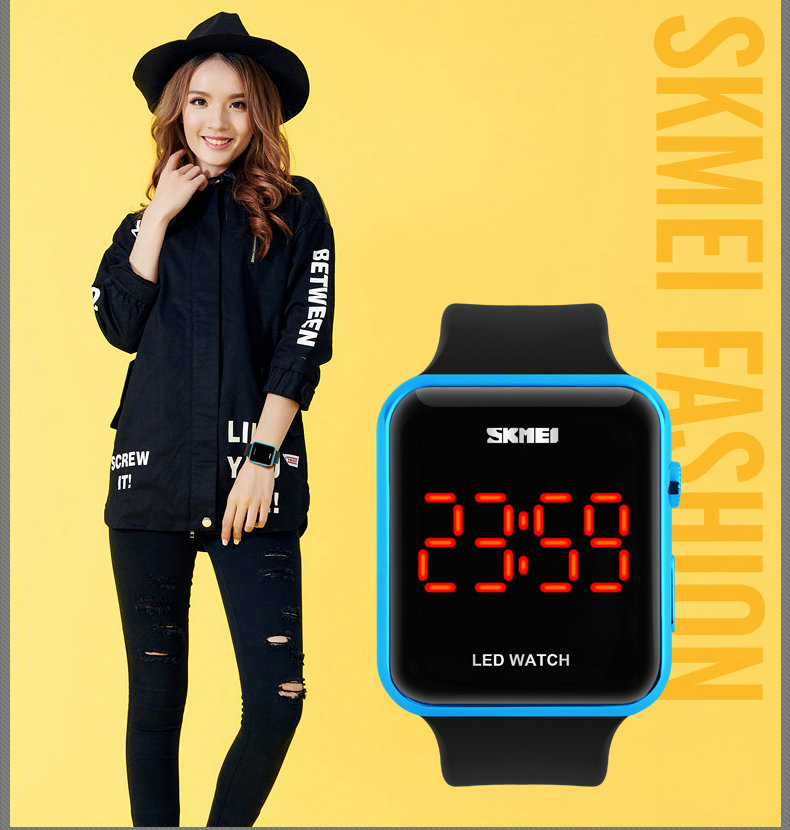 Новый контракт влюбленные любовника подарок Водонепроницаемый Китай Светодиодные Часы Спорт Мода Стиль цифровой календарь электронные часы белый