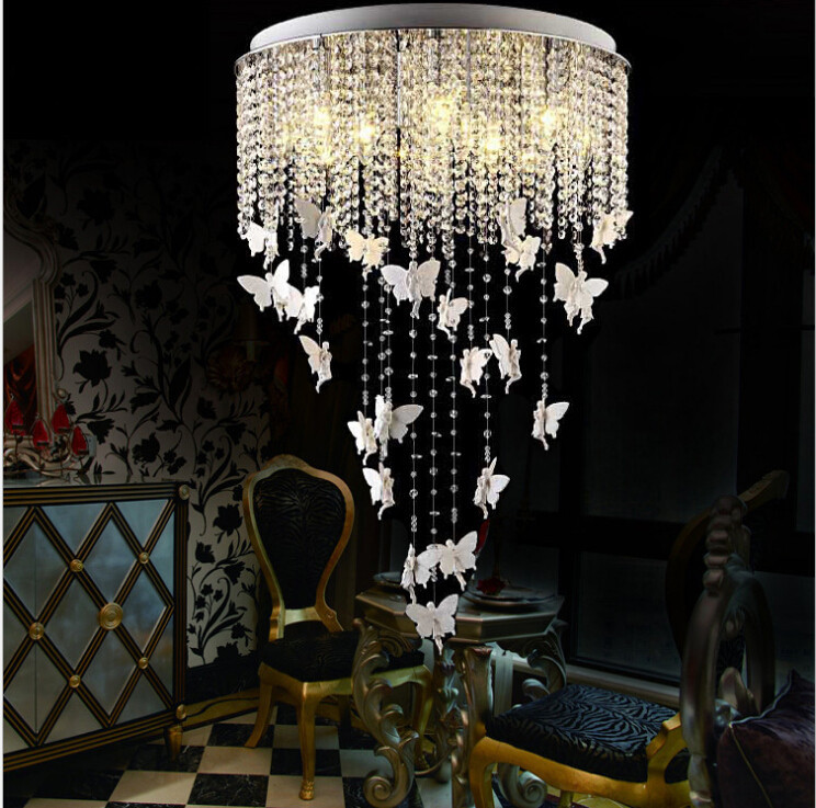 Luxury Modern Minimalist Living Room Chandelier K9 Crystal Chandelier Beaded