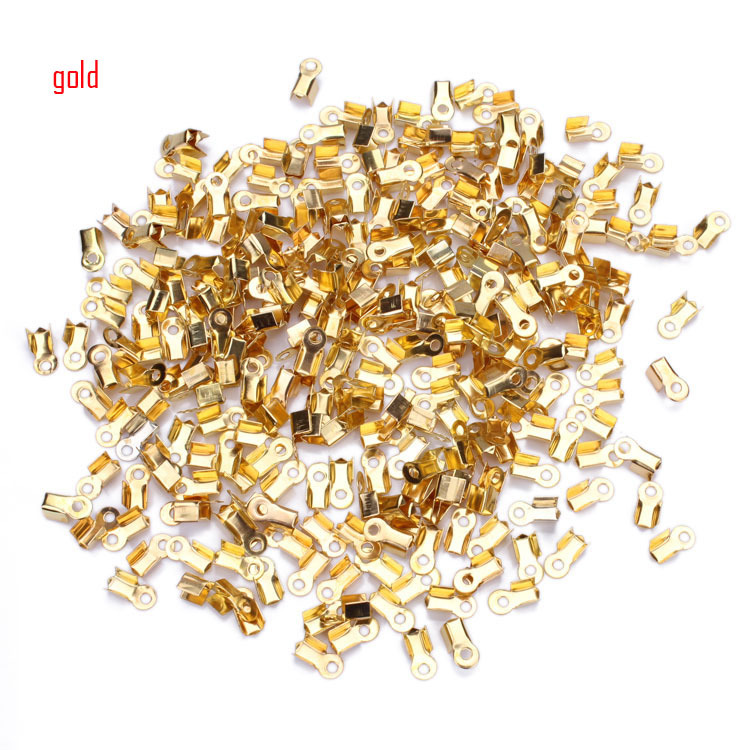 200pcs/lot Fashion Jewelry Findings Necklace/Cord Crimp End Caps Tips 3*6mm(China (Mainland))
