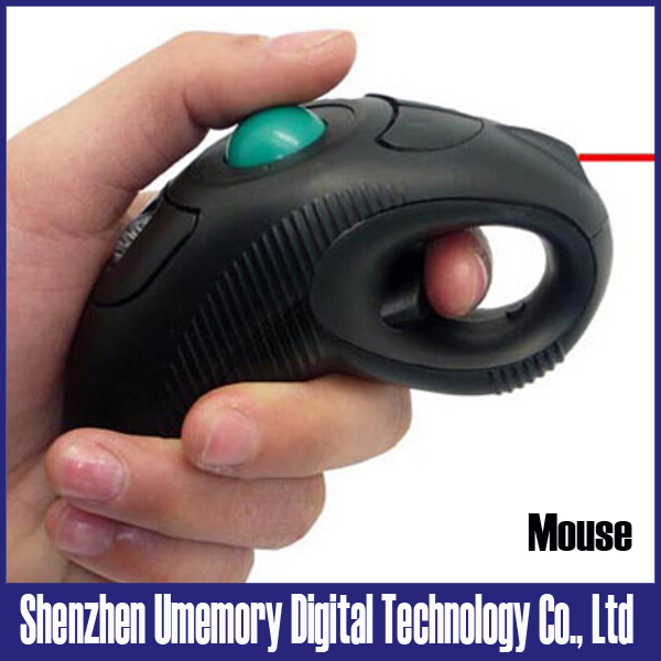 Rechargeable air mouse with laser pointer for teacher 2.4G wireless handheld trackball mouse free shipping(China (Mainland))