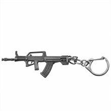3d simulação arma pingente chaveiro legal homem arma de metal modelo ak47 m16 m4a1 awm revólver armas chaveiro para carro titular chaveiro(China)