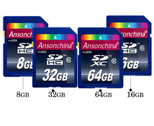 64gb 32GB class 10 SD card 16GB SDXC SDHC flash TF Memory Card full size SD card withRetail box(China (Mainland))