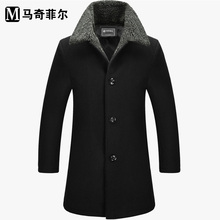 Marchi Phil long wool coat male models thick woolen coat wool coat male coat male F259(China (Mainland))