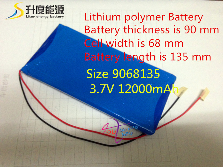 Size 9068135 3.7V 12000mAh Lithium polymer Battery Protection Board Tablet PCs - Hong Kong wei jie technology electronics co., LTD store