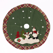 2016 Christmas Tree Skirts 120cm Flax Scotland Style Santa Snowman Christmas tree Ornaments Kerst Decoratie Navidad Decoracion