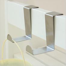 2Pcs/Set Stainless Steel Self Home Kitchen Wall Door Holder Hook Hanger Hanging Coat Hooks(China (Mainland))