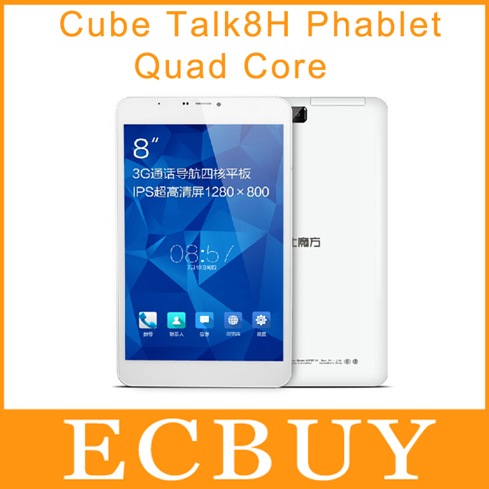 8 inch Cube Talk8H talk 8h Cube U27GT MTK8382 Quad Core 1.3GHz 1280*800 Android 4.2 1GB/8GB 0.3+2MP 3G phone call tablet pc(China (Mainland))
