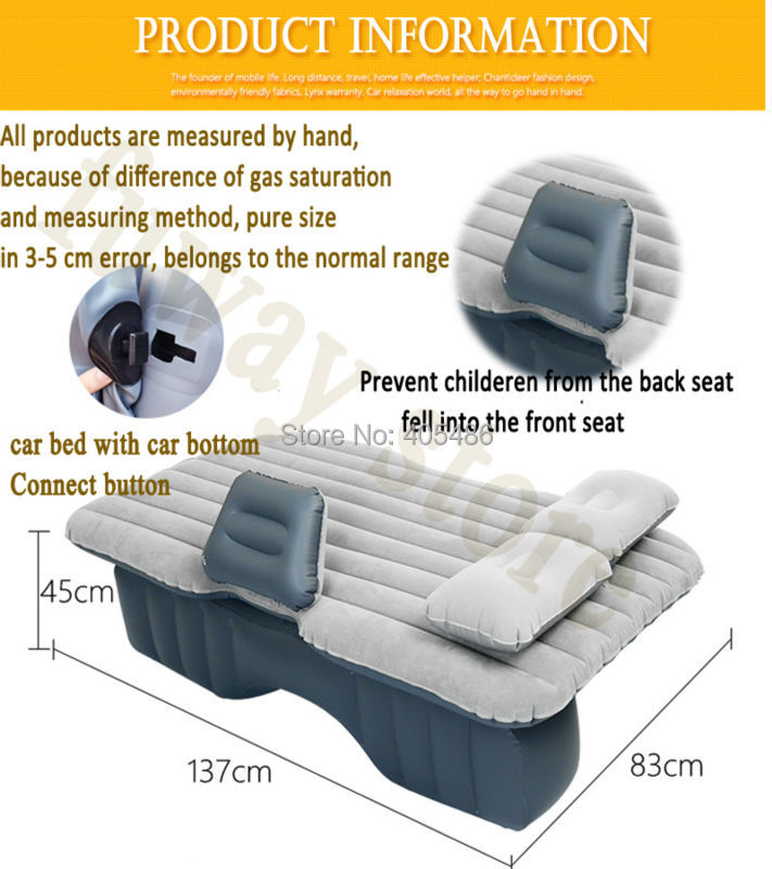 Car Travel Bed Car Front Back Seat Cover Mattress Car