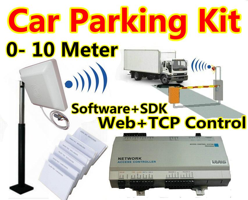 Car Parking kit aparment hotel access control +0 meter to 10 meter Long range card reader Web TCP+IP control access control pane(China (Mainland))