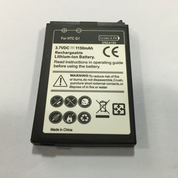 Free shipping high quality mobile phone battery DREA160 for HTC Dream 100 Dream G1 for Google G1 with good quality(China (Mainland))
