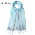 Luxury Women Scarf Pure 100 Silk Scarf Summer Light Pashmina Women s Plain Color Scarf Fashion