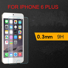 """10000pcs/lot for iPhone 6 plus 5.5"""" Explosion Proof Premium 9H 0.3mm tempered glass Screen Protector for iphone6 5.5inch"""