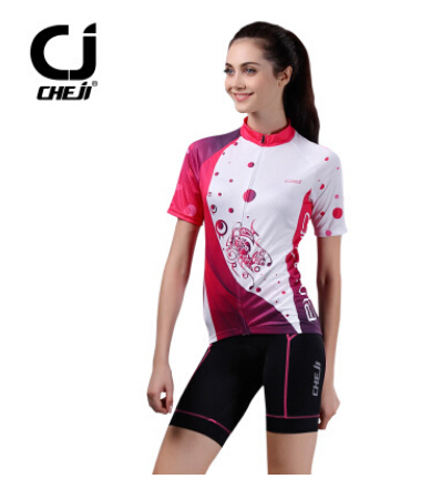 CHEJI 3D Bicycle Jerseys Short Sleeved Suit Female Women Cycling Sport Clothing<br><br>Aliexpress