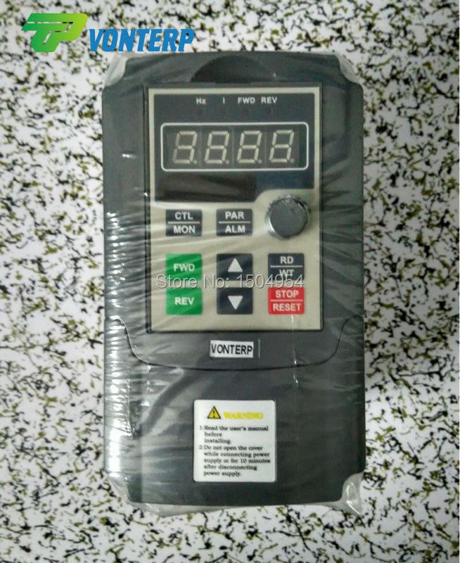 Фотография VTP5M-0R7-G1 220v 0.75KW 4A single phase input and 220v 3 phase output variable frequency drive