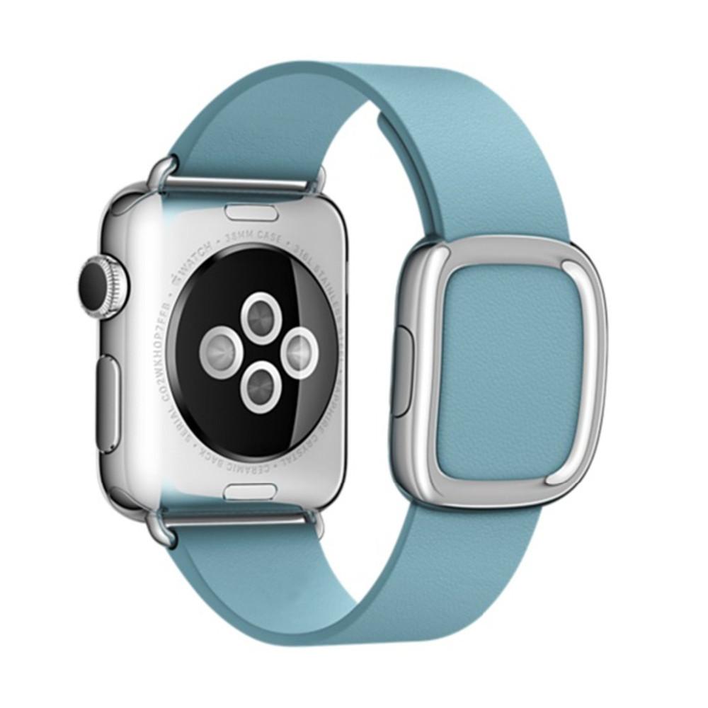 Для Apple Watch Band Современные Пряжка Ремешок для iWatch браслет 38 ММ 42 ММ Гладкий Гранада кожа для iWatch Ремень