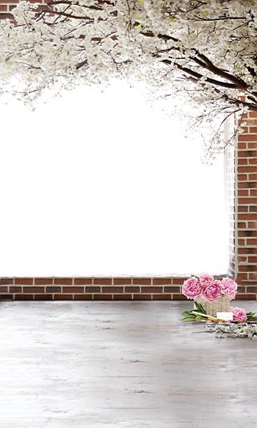 New arrival Background fundo Bouquet brick wall 600CM*300CM width backgrounds LK 3773<br><br>Aliexpress